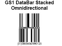 GS1 DataBar Stacked Omnidirectional