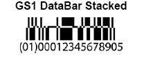 GS1 DataBar Stacked